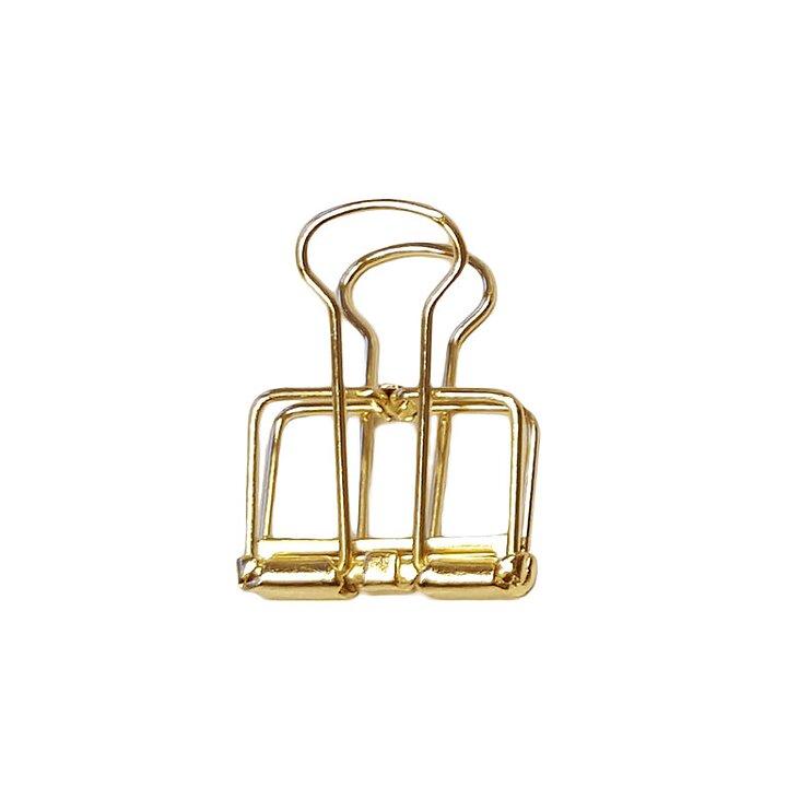 Foldback WIRE CLIPS SMALL 19mm, 15 psc , gold - Deskstore the Shop