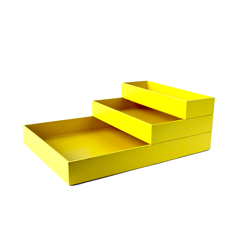 Stackable Storage Tray Stack Small Yellow