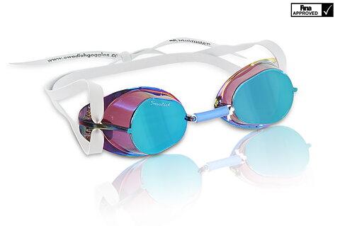0205495b1071 Swimming goggles Mountable Blue Oil Swedish goggles Blue Oil mirror