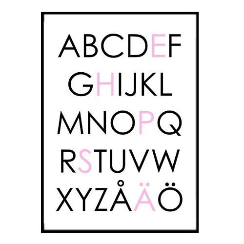 Väggdekor Alfabetet : Väggdekor barnrum