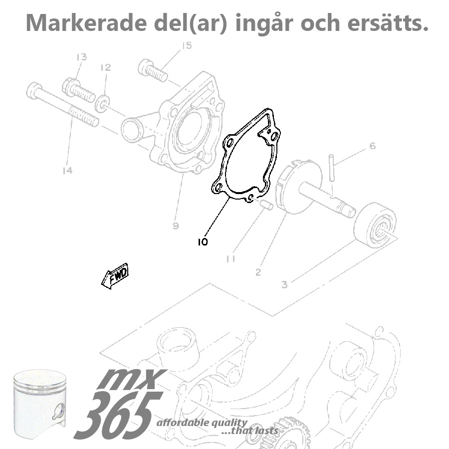Engine Gaskets Yamaha Yz80 86 92