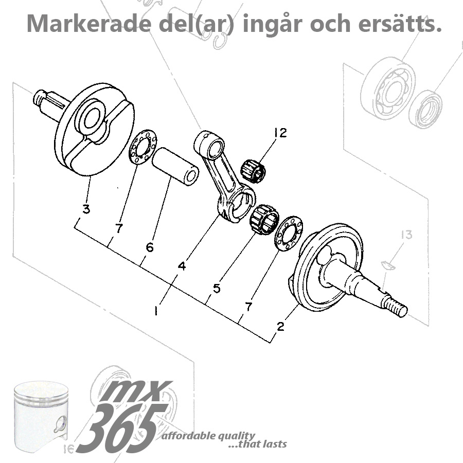 Crank Shaft Yamaha Yz85 02 18