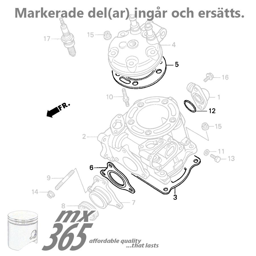 Engine Gaskets Honda Cr125 '90'97: 97 Honda Cr125r Engine Diagram At Sergidarder.com