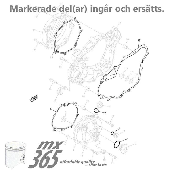 Engine Gaskets Yamaha YZ250F '14-'16 WR250F '14-'16