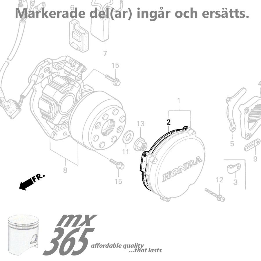 Engine Gaskets Honda Cr250 89 91 Fiber