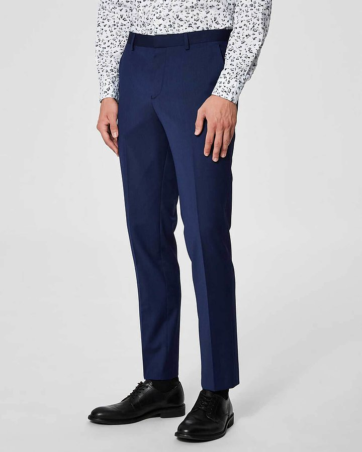 Slim Bill Blå Kostymbyxor - Selected Homme - The Local Store cb35a2796bc64