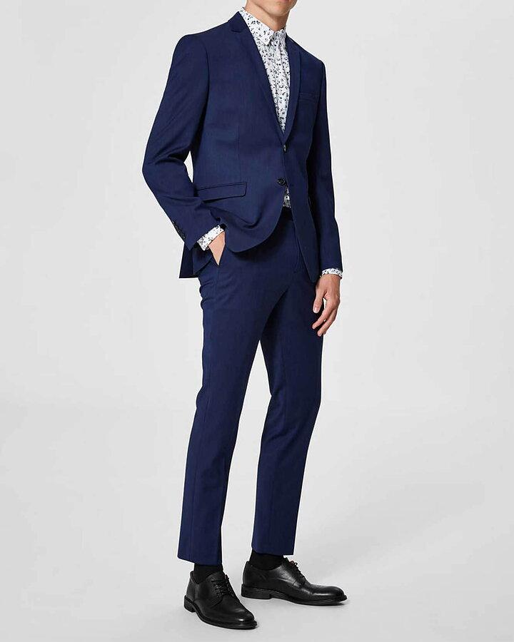 Slim Logan Blå Kostym - Selected Homme - The Local Store 56bfbaf1da490