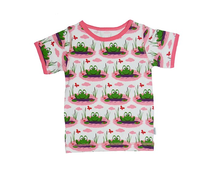 44350e199ea0 SS T-Shirt  Pink Frog - SnoozyWebshop