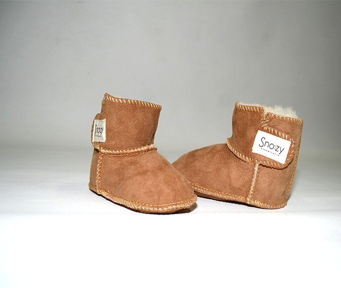 89d74d478983 Sheepskin Baby Booties Boots Slippers - SnoozyWebshop