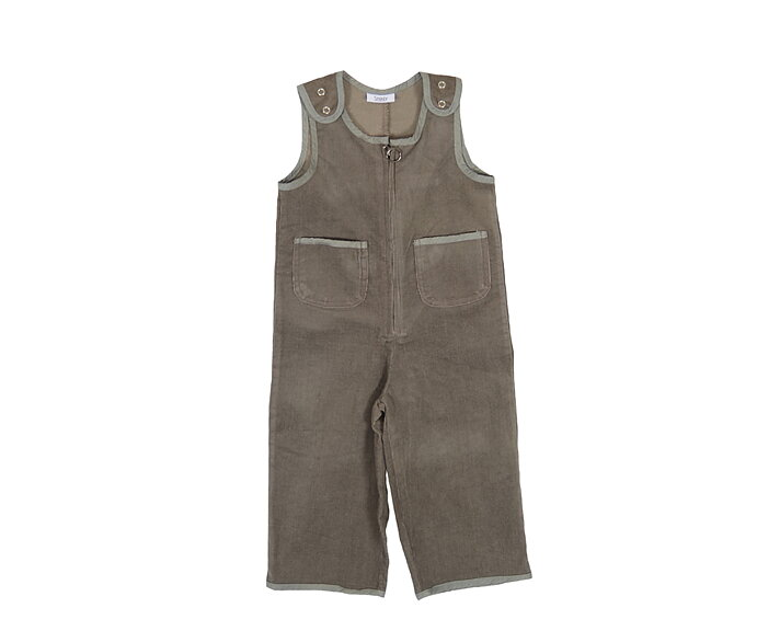 6ed4b5e5a910 Corduroy Baby Overall -Grey - SnoozyWebshop