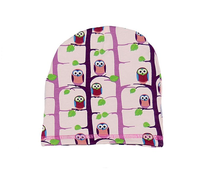 1f978ca487ec Winter Beanie Hat  Rose Owl - SnoozyWebshop