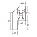 """Glovebag V 10"""" för verikala rör (254mm)"""