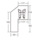 """Glovebag V 24"""" för vertikala rör (610mm)"""
