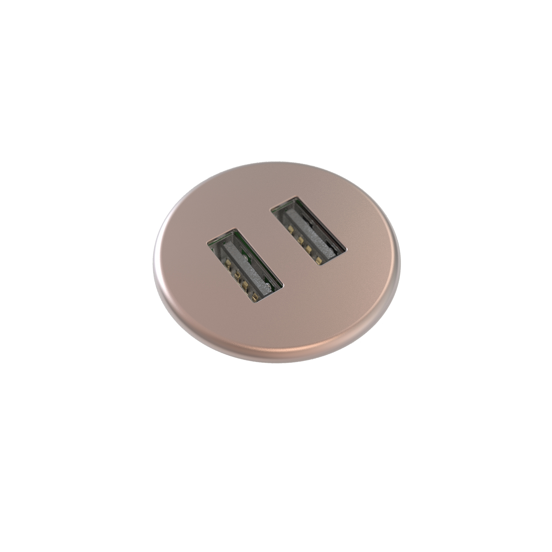 Powerdot MICRO USB Laddare 2 portar 5V 2A, Rosa guld smalandskontorsmobler.se