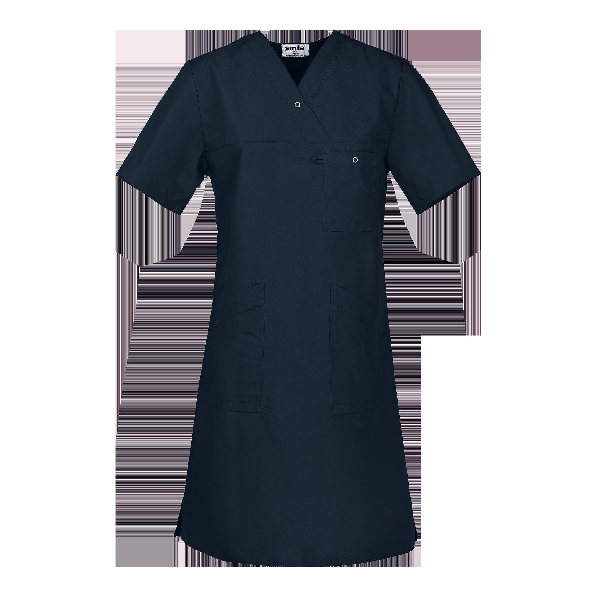 93c2b608e31 Smila marinblå v-ringad klänning - 4. Next. Previous