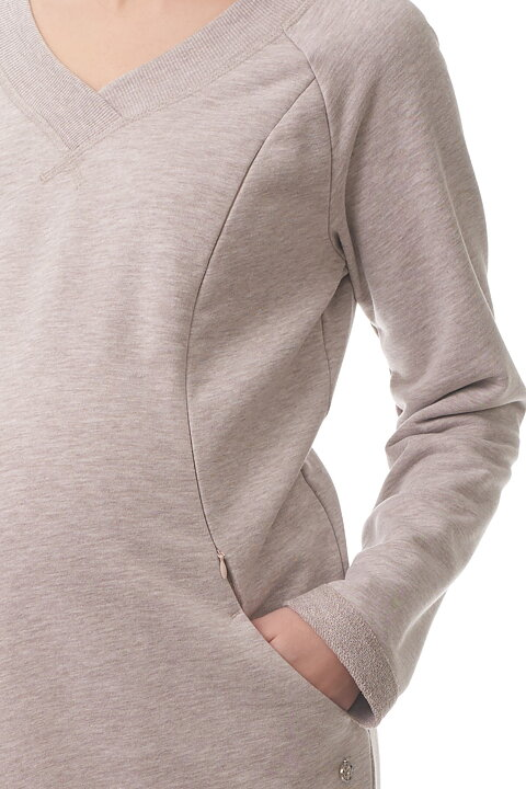 11f6db929aab Mammaklänning Sweatshirt med Amningsfunktion