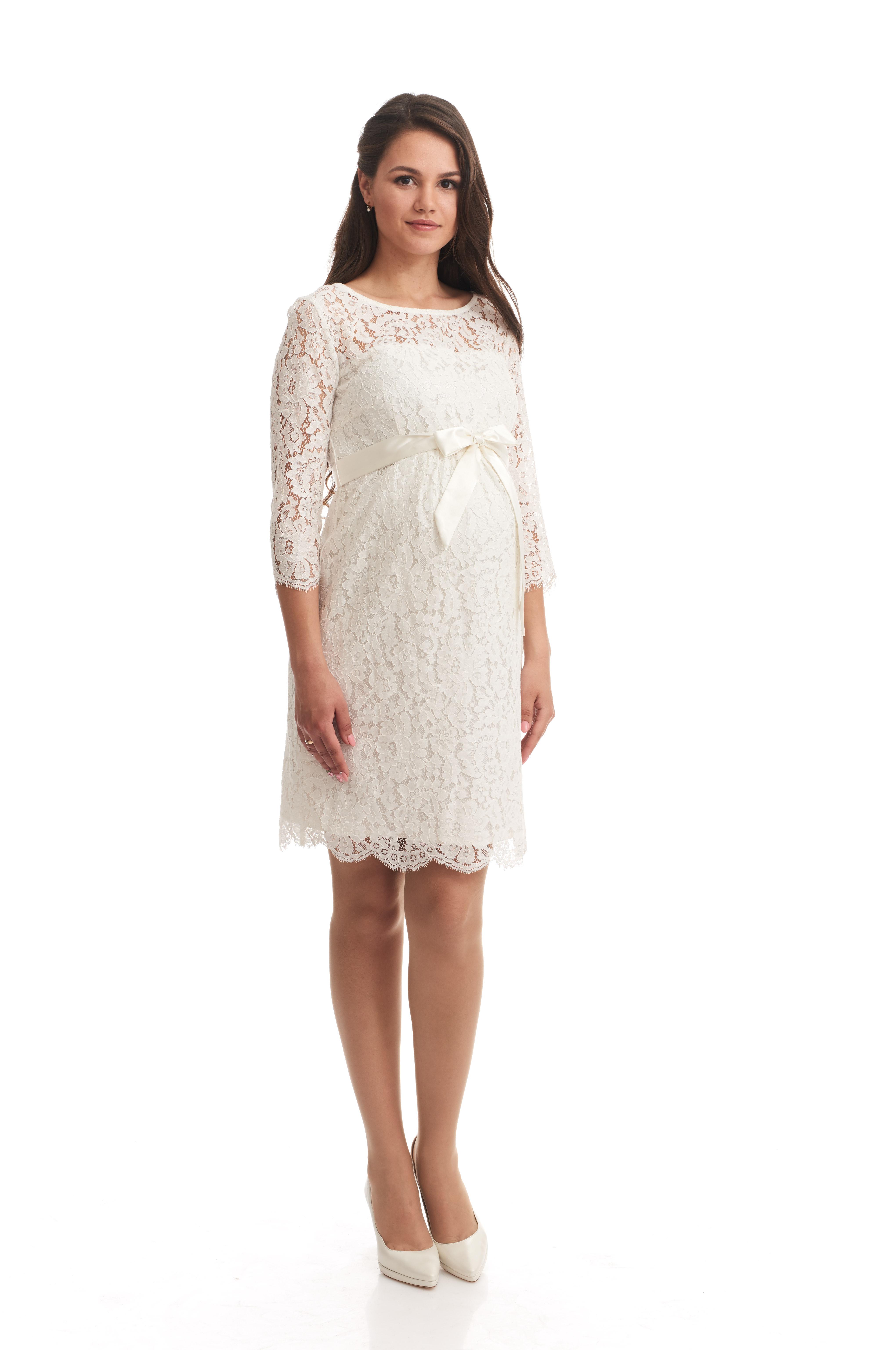 vit klänning gravid