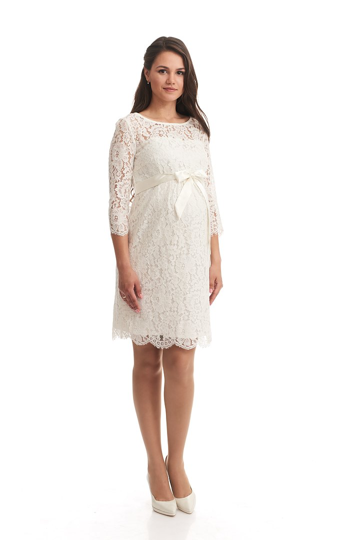 Mammaklänning i Fin Vit Spets - MOM TO BE 19e977cab1ecb
