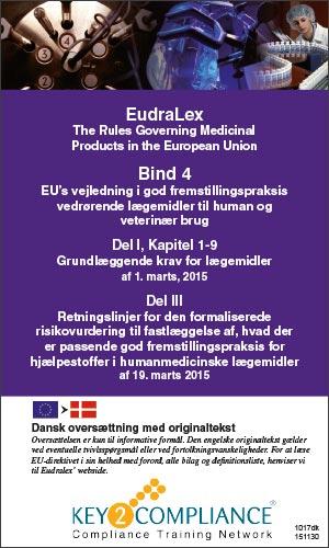 EU GMP Guide Del I dansk oversættelse - Key2Compliance AB