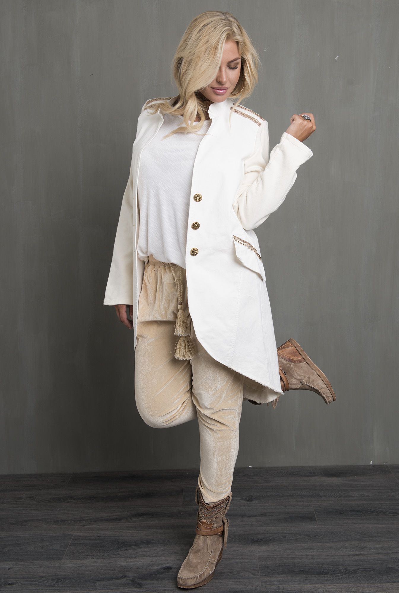 By Blue - Minoue Army Jacket Long Off-White