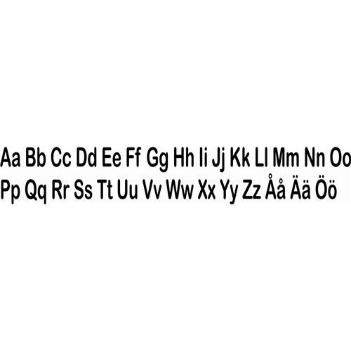 Väggdekor Alfabetet : Alfabetet paxlux