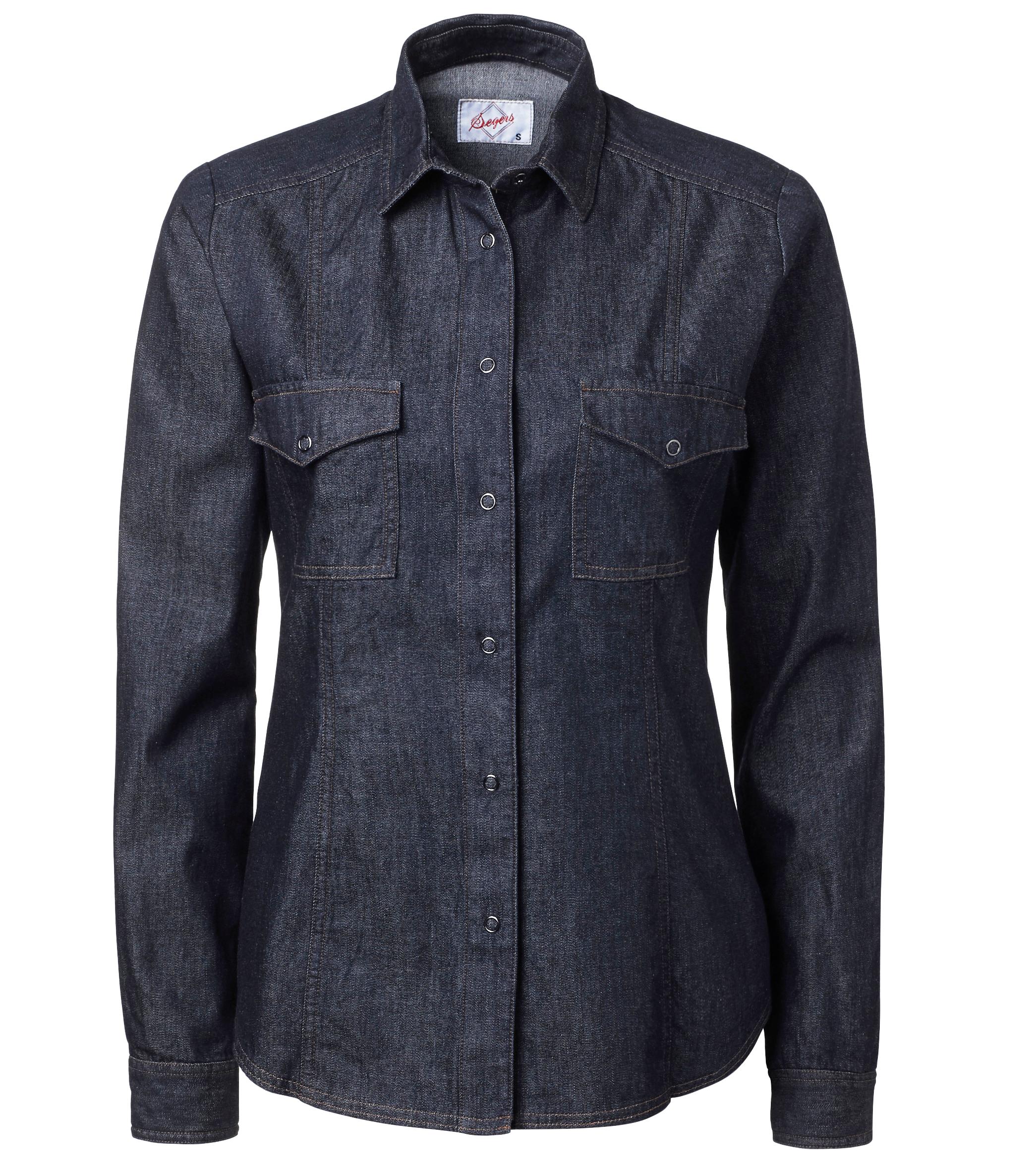 Jeansskjorta Dam - Blå - Kockkläder.se f3b4b2765a935