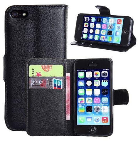 Mobilväska iPhone 5 5S SE Black w Stand d45f3547cc2d7