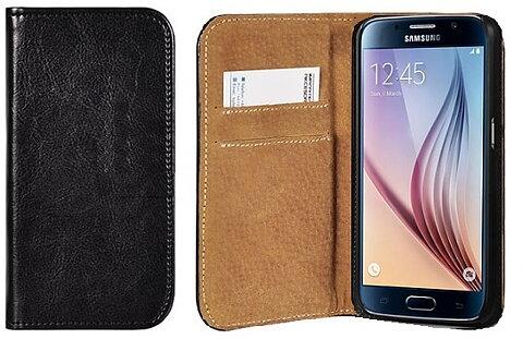 Mobilväska Samsung Galaxy J7 2017 Italian Leather Black 3e0ac938aa0ce