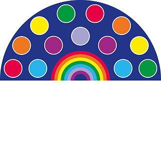 Placement Carpet Rainbow Semi Circle 1 5 X 3m