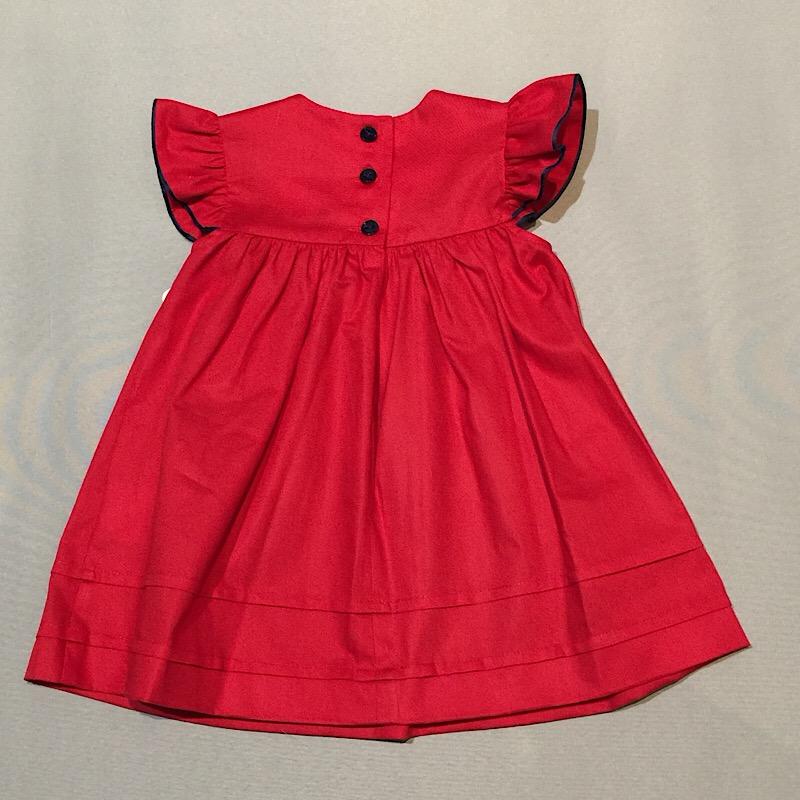 röd klänning baby