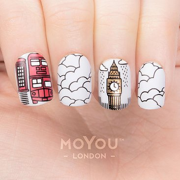 Moyou London Stamping Nail Art Plate Scandi