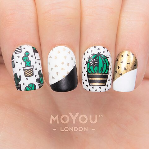 Moyou london stamping nail art plate cacti stamping nail art plate hipster 18 prinsesfo Images