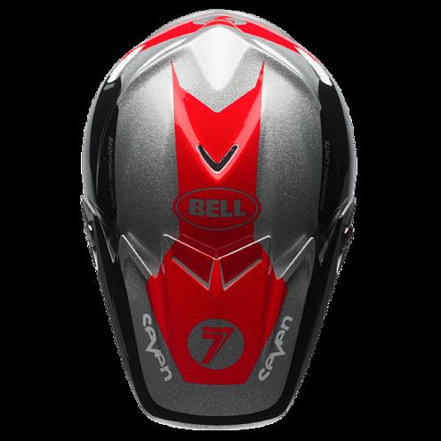 Bell Moto 9 Carbon Flex Helmet Seven Rogue Silverblack