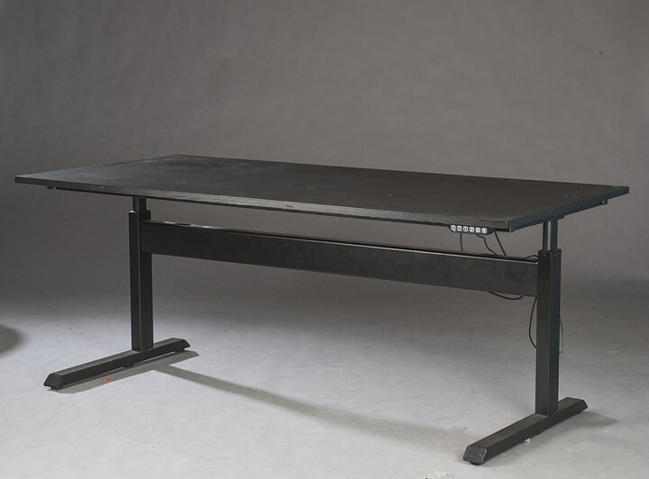 Height Adjule Working Desk Matt Black Table Top