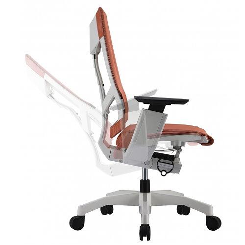 ergonomic desk chair air pro white leather chrome base allforsale