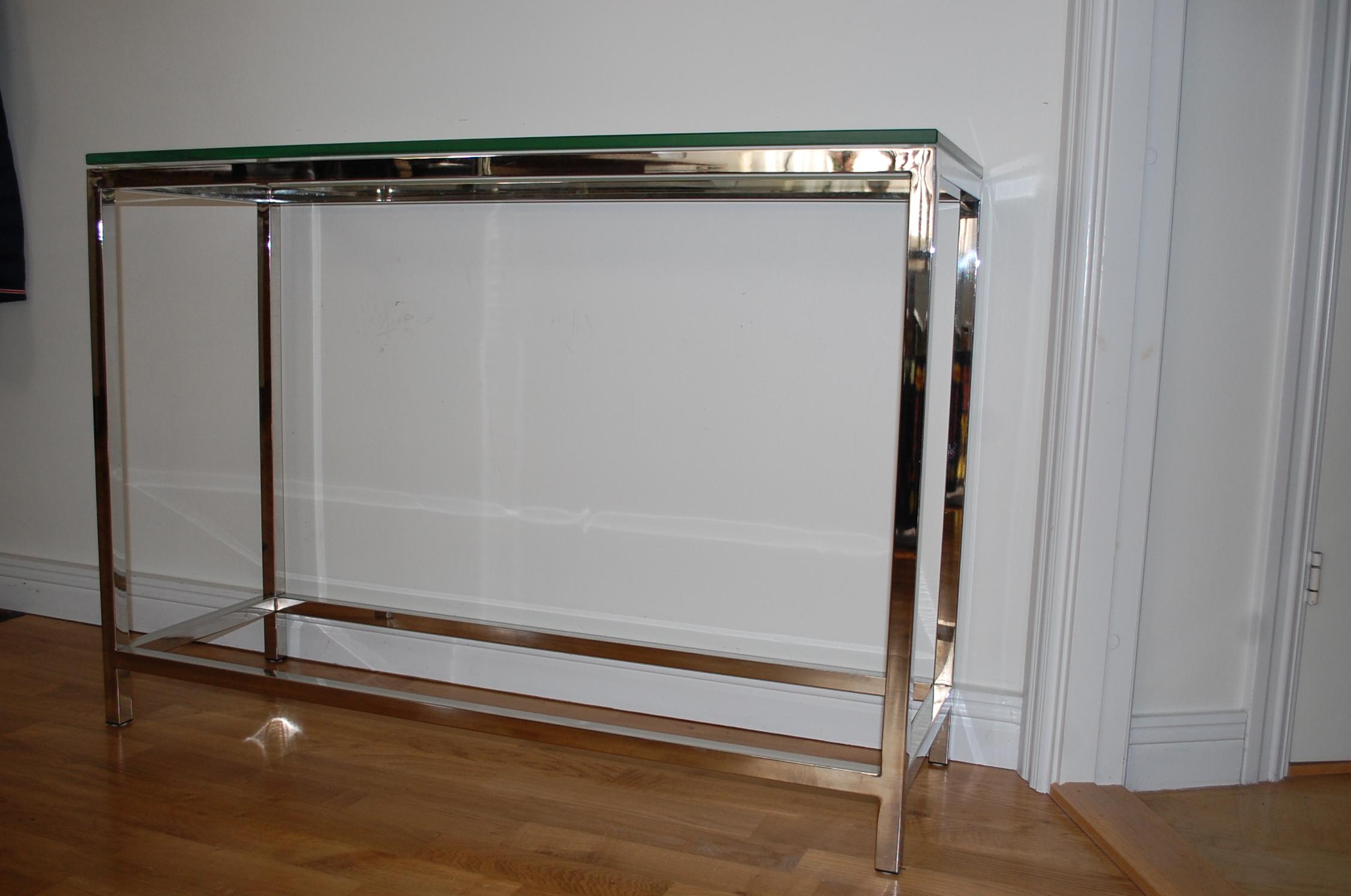 Sideboard mit glas und chrom gebraucht for Sideboard mit glas
