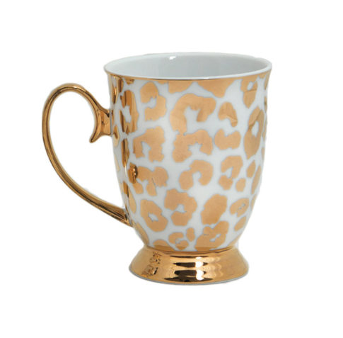Cristina Re kopp leopard guld