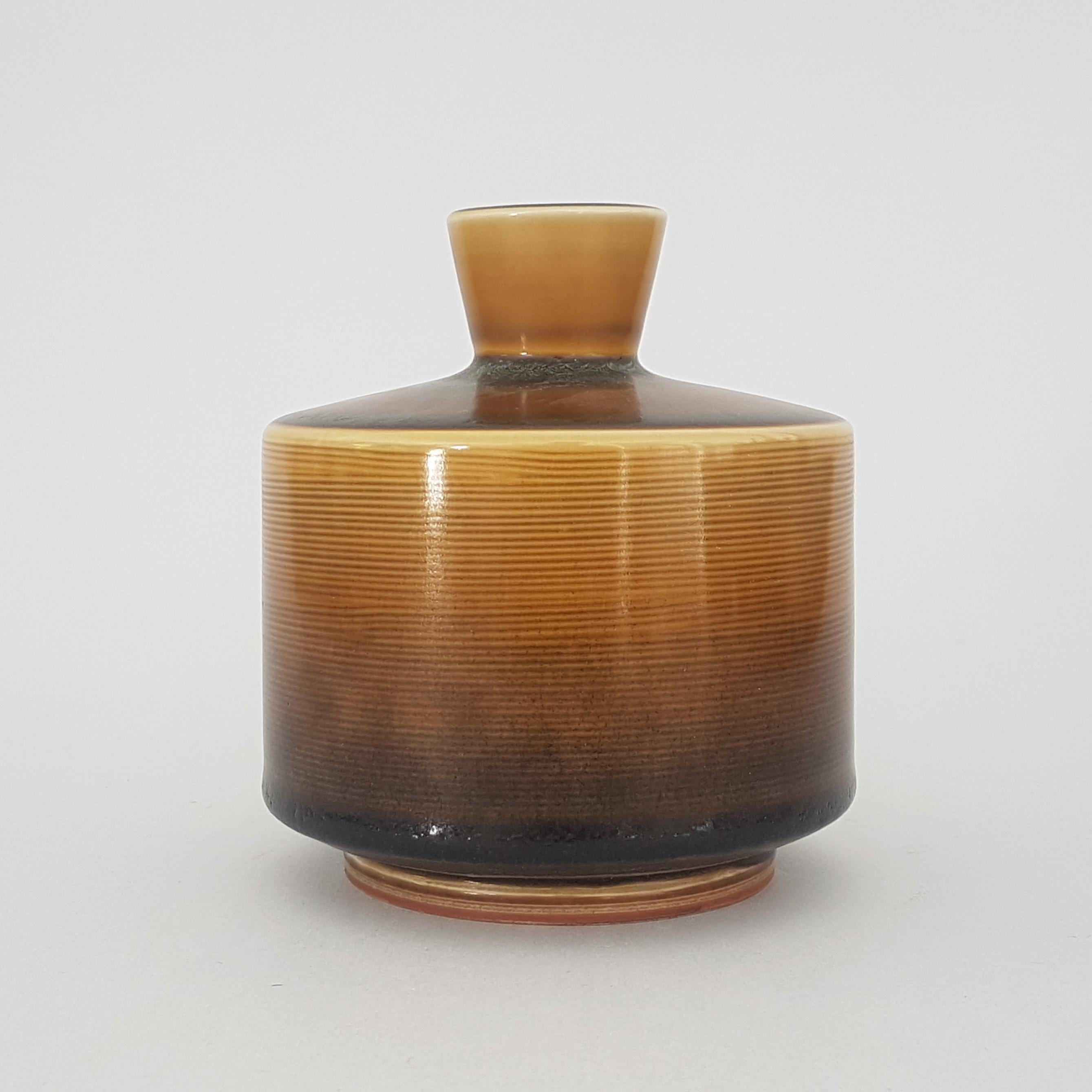 Berndt Friberg Gustavsberg Quot Unique Footed Stoneware Vase