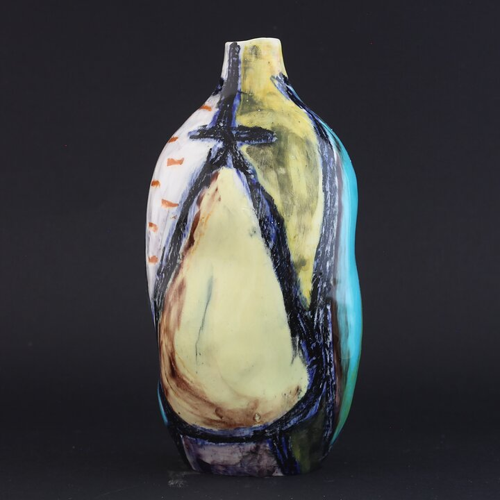 Marcello Fantoni A Unique Early And Stunnning Vase With Exceptional
