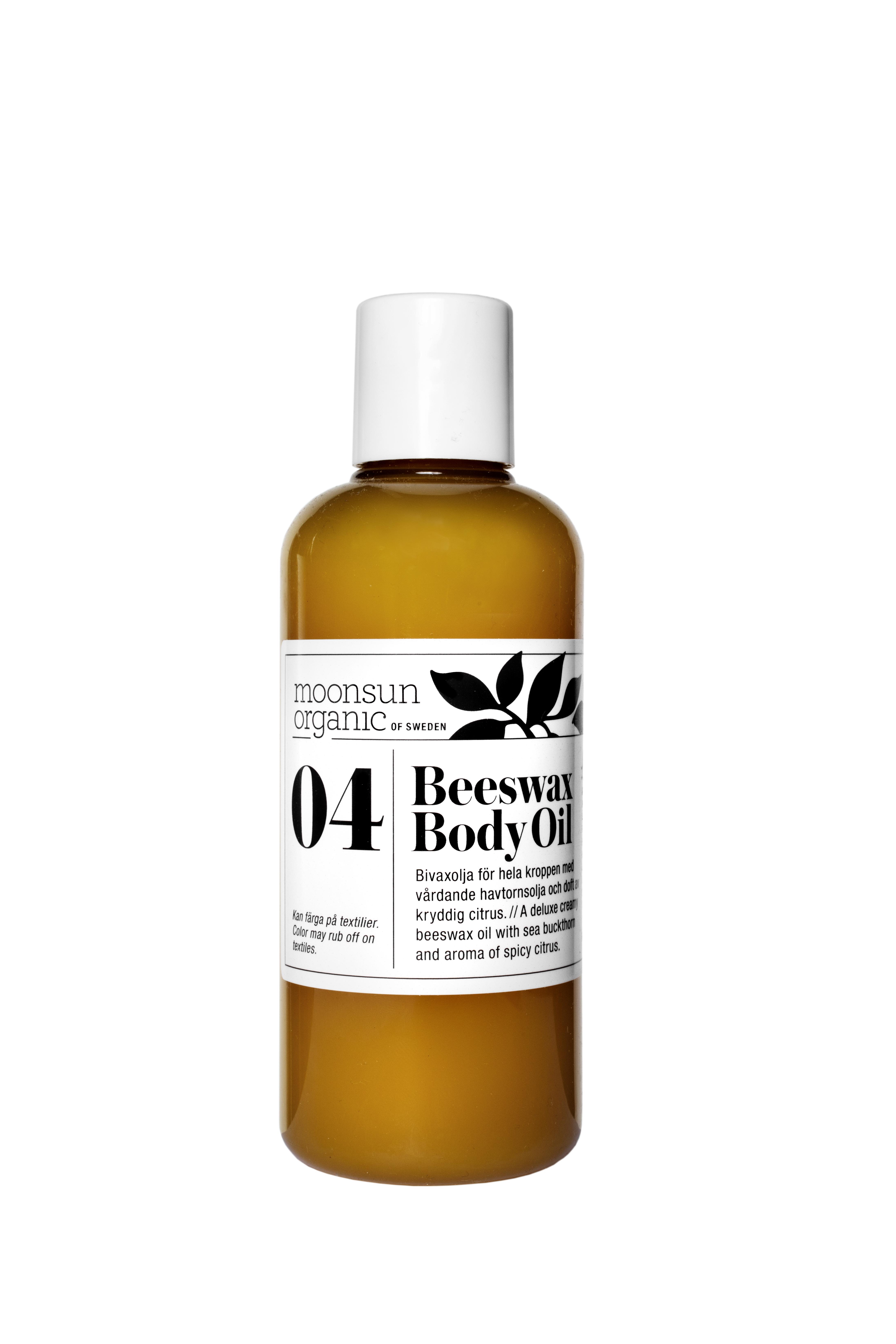 moonsun beeswax body oil