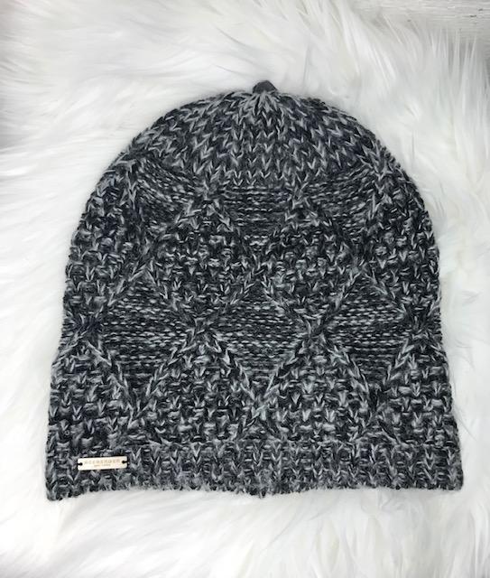 Stickad mössa i svart grått - Seeberger - Hörnan 6c4b71e3a5357