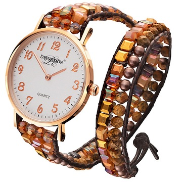 Earth Sunset - Double Wrap - Women´s Watch