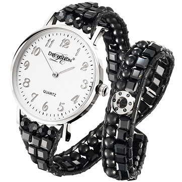 Pure Black - Double Wrap - Women´s Watch