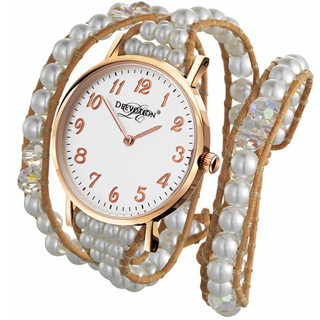 double strap watch pure white triple wrap womens watch deewatch