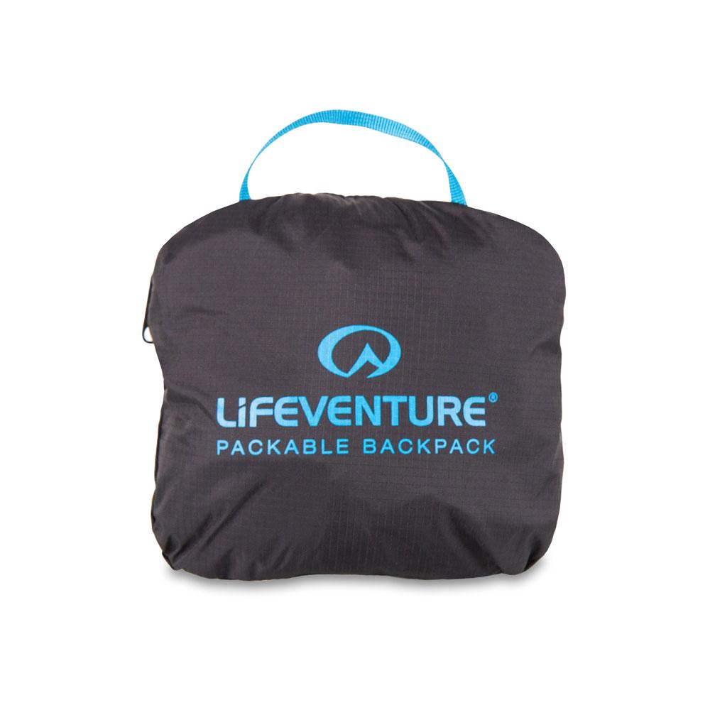 Ihoppackningsbar ryggsäck - LIFEVENTURE Packable Backpack 25L Black ... f6e44ef3fc1ad