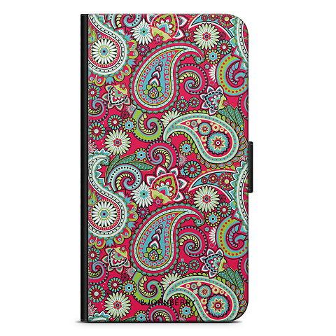 iPhone 6 6s Plånboksfodral - Röd Paisley e5ae202966d37