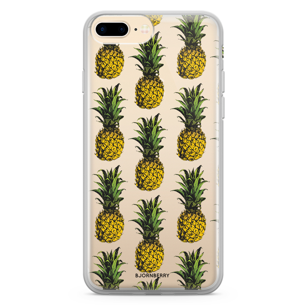 iPhone 8 Plus Fashion Skal - Ananas - Bjornberry cf1e4a04328d5