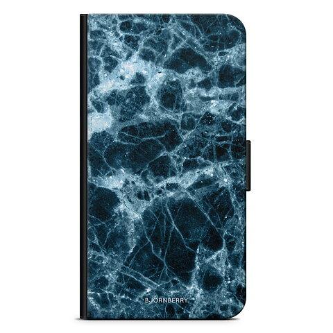 iPhone 5 5s SE Plånboksfodral - Blå Marmor b33618cddd4e9