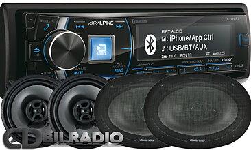 Alpine CDE-178BT med 2par Phoenix Gold Z högtalare - CD BILRADIO AB cf34c90757b5f