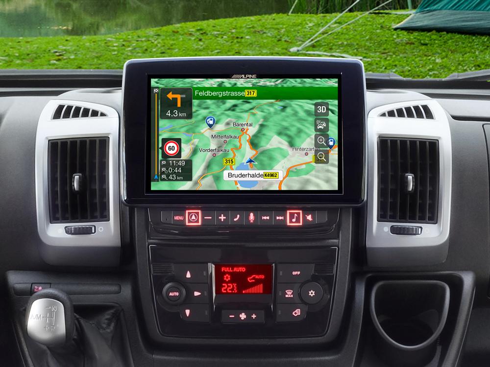 alpine x902d du modellanpassad navigation med apple. Black Bedroom Furniture Sets. Home Design Ideas